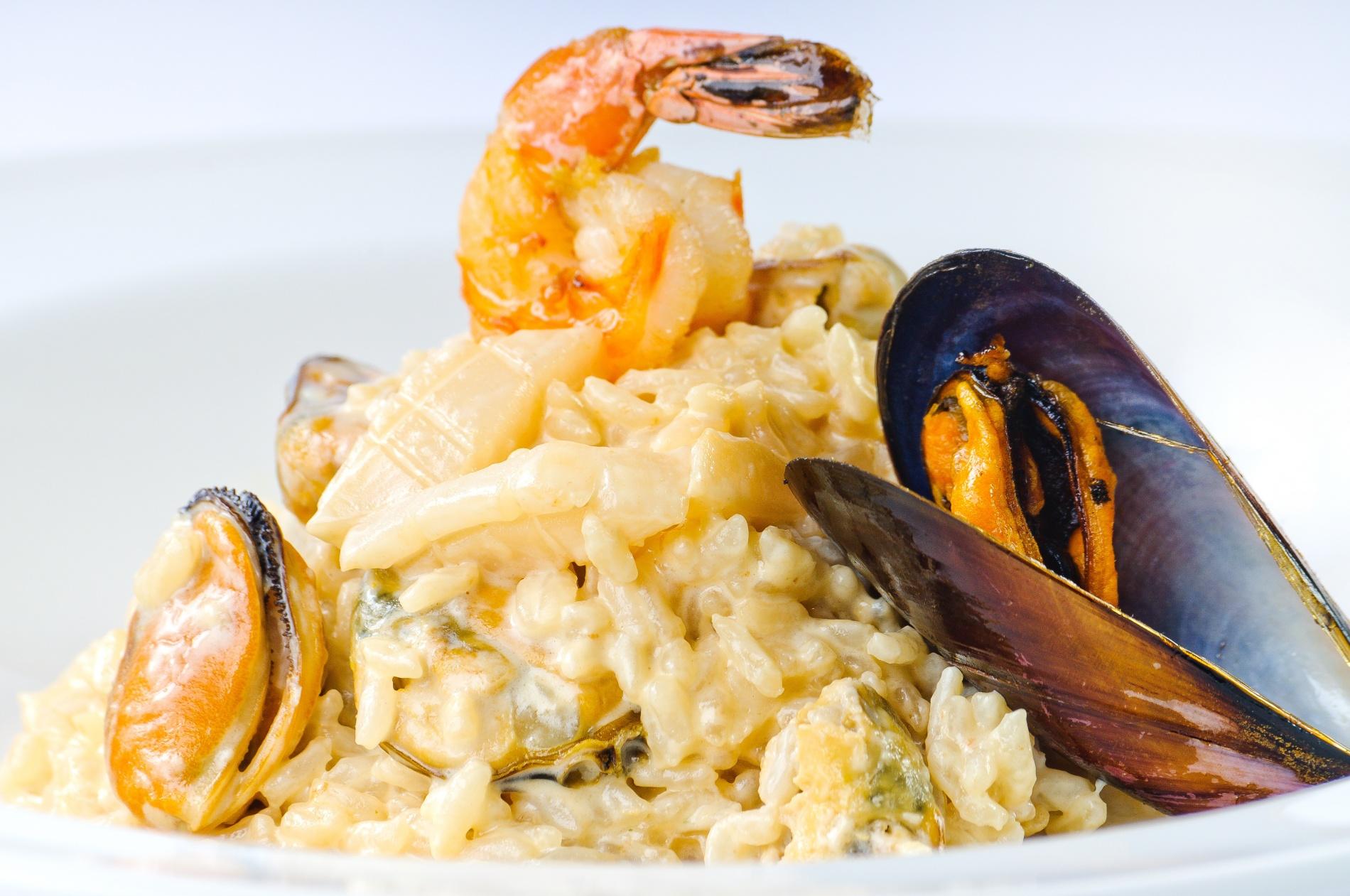 Ризотто с морепродуктами без вина рецепт
